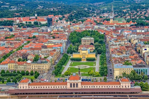 Stadtführung Zagreb grünes Hufeisen